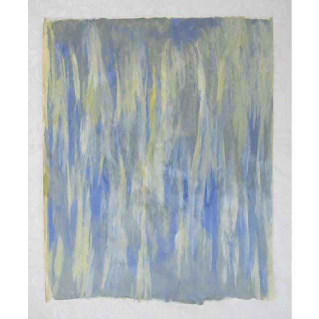 Alaina Blue Green Streak Painting - Image 4 of 10