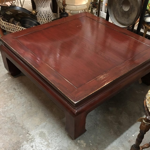 Copper Top Coffee Table Ethan Allen: Ethan Allen Ming Style Cherry Veneer Coffee Table