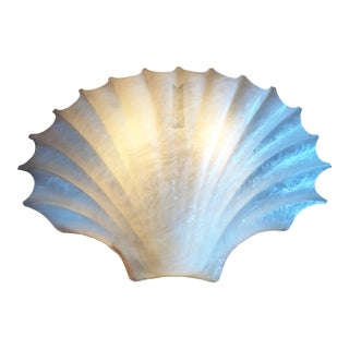 Vintage Acrylic Clam Shell Sconce by Rougier