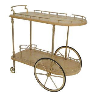 Aldo Tura Parchment Bar Cart