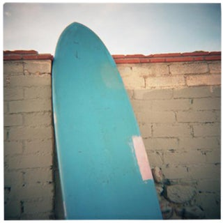 """Baby Blue"" Surfboard Photograph"
