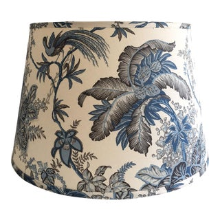 Designer Blue Tropical Toile Lamp Shade