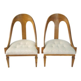Spoon Back Slipper Chairs - A Pair