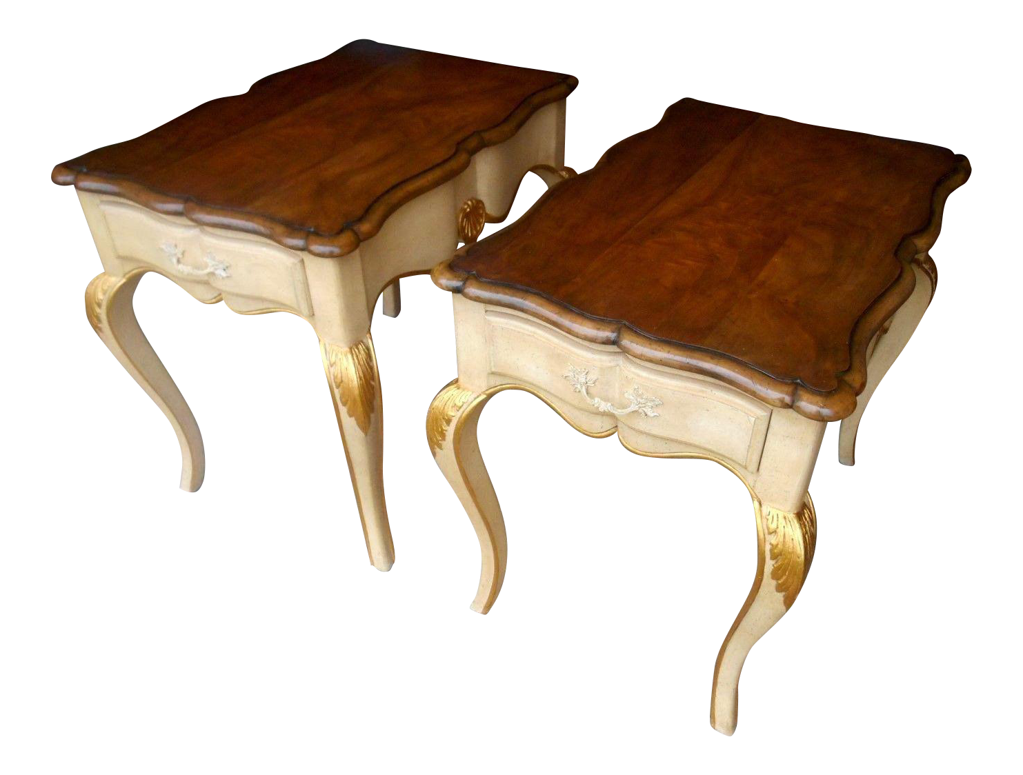 Baker Furniture French Regency Collector Series Lamp / Side Tables  A Pair
