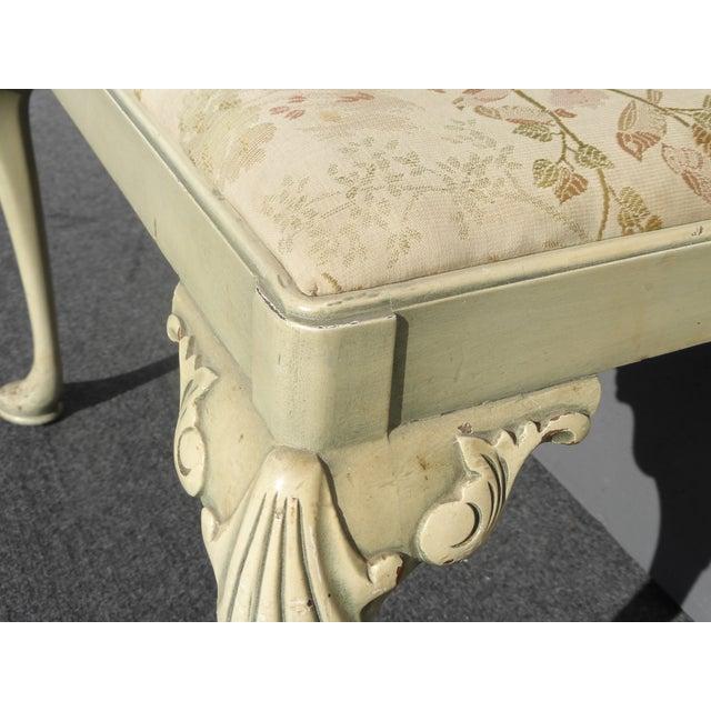 Vintage Queen Anne Piano Vanity Bench - Image 8 of 11