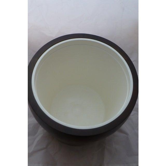 Mid Century Modern Large Walnut Ice Bucket - Image 4 of 7