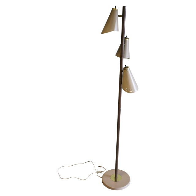 mid century modern pole floor lamp chairish. Black Bedroom Furniture Sets. Home Design Ideas