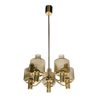Sophisticated Mid-Century Modernist Chandelier by Hans Agne Jakobsson