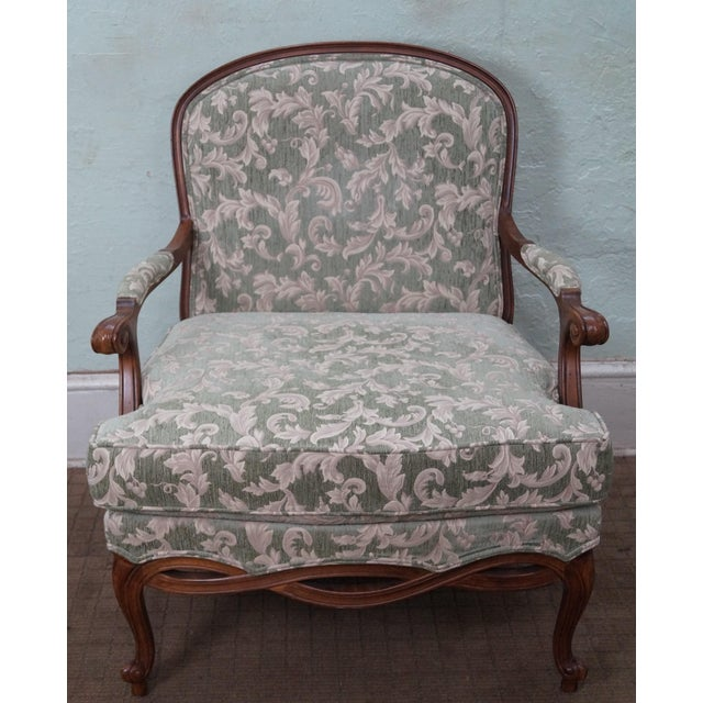 Image of Ethan Allen Louis XV Chaise Lounge & Ottoman