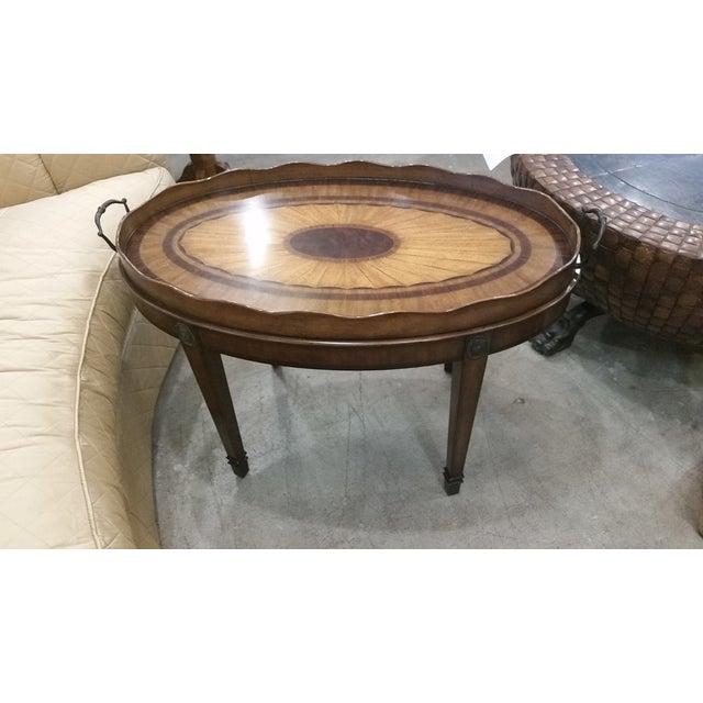 Maitland Smith Oval Tray Table - Image 2 of 8