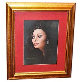 Sophia Loren Signed Painting