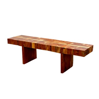 Thick Teak Block Butchers Bench