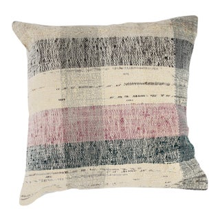 "Turkish Hand-Woven Chaput Kilim Pillow 24"" x 24"""