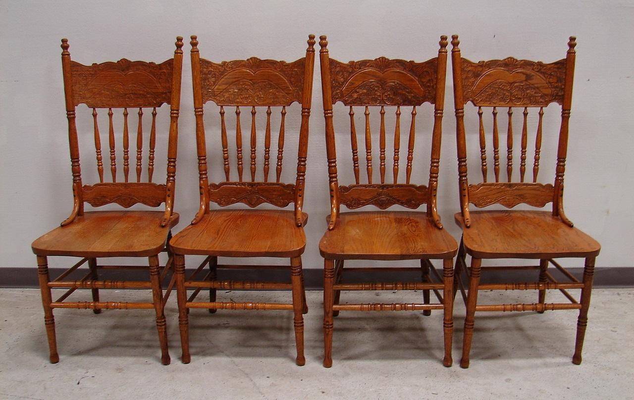 French Oak Kitchen: French Country Oak Dining Kitchen Chair Set