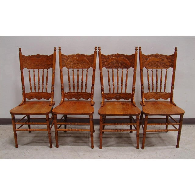 French Country Oak Dining Kitchen Chair Set
