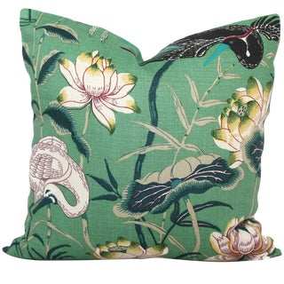 Jade Lotus Garden Decorative Pillow Cover - 20x20