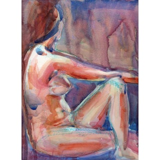 Julie in Redlands Nude Watercolor