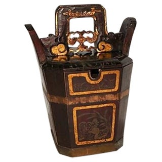 Antique Chinese Tea Bucket With Gilding