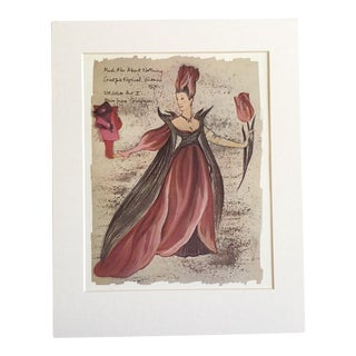 "Vintage Stratford Festival Design Folio, ""Ursula"" in Shakespeare's ""Much Ado About Nothing"" Costume Print"