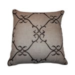 Image of Beaded Linen Pillow by Sferra