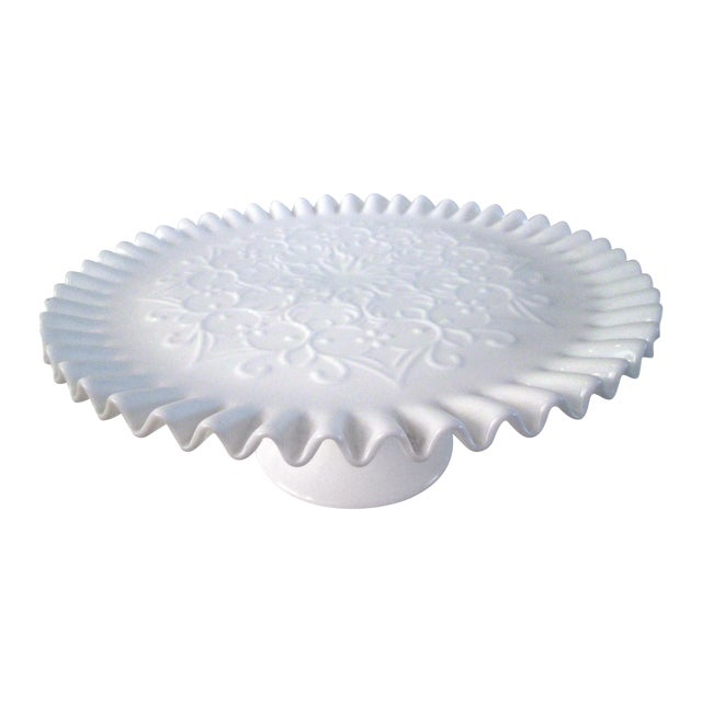 Fenton Spanish Lace Cake Plate - Image 1 of 5