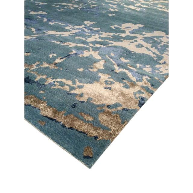 "Pasargad Modern Silk & Wool Area Rug - 6'3"" X 9' - Image 3 of 3"