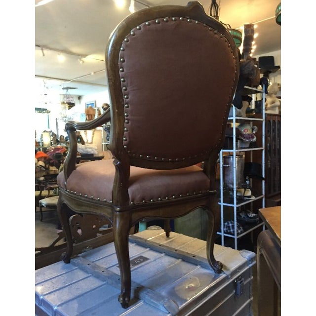 1930s Re-Upholstered Cowhide Leather Chairs - Image 9 of 11