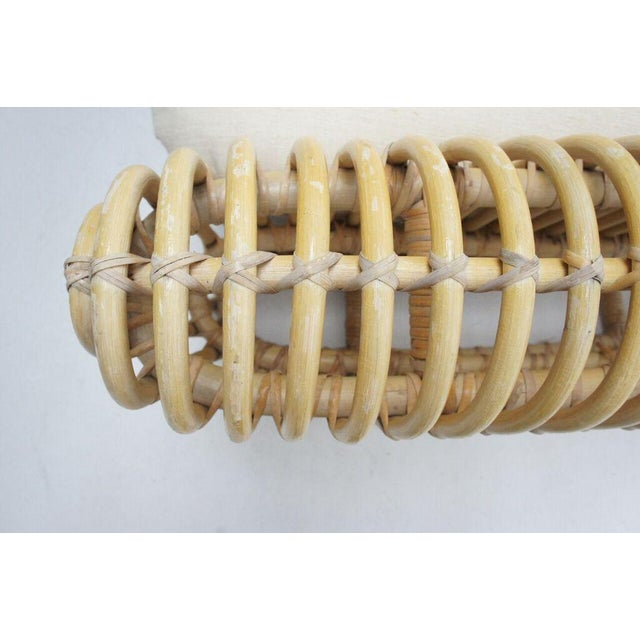 Albini Style Rattan Loveseat - Image 10 of 10