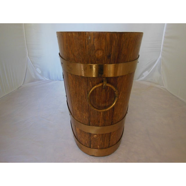 Image of Vintage French Oak Champagne Ice Bucket