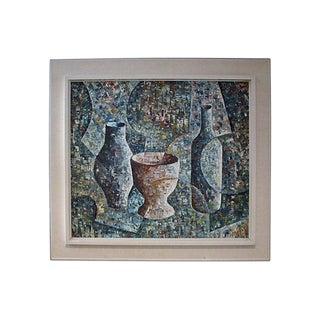 Loren Mid-Century Cubist Oil Painting