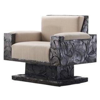 Paul Evans Studio Sculpted Bronze Armchair