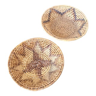 Vintage Woven Baskets - A Pair
