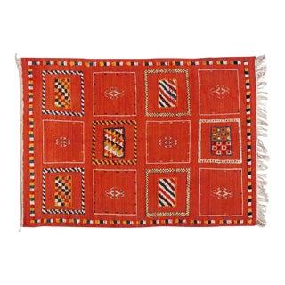 Moroccan Medium Berber Rug - 3′5″ × 4′7″