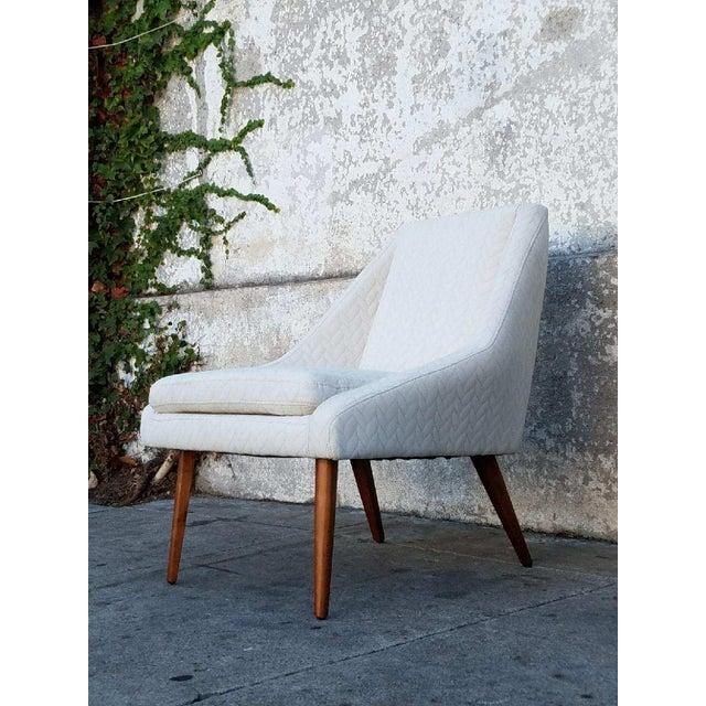 """Berkley"" Cream Lounge Chair - Image 3 of 4"