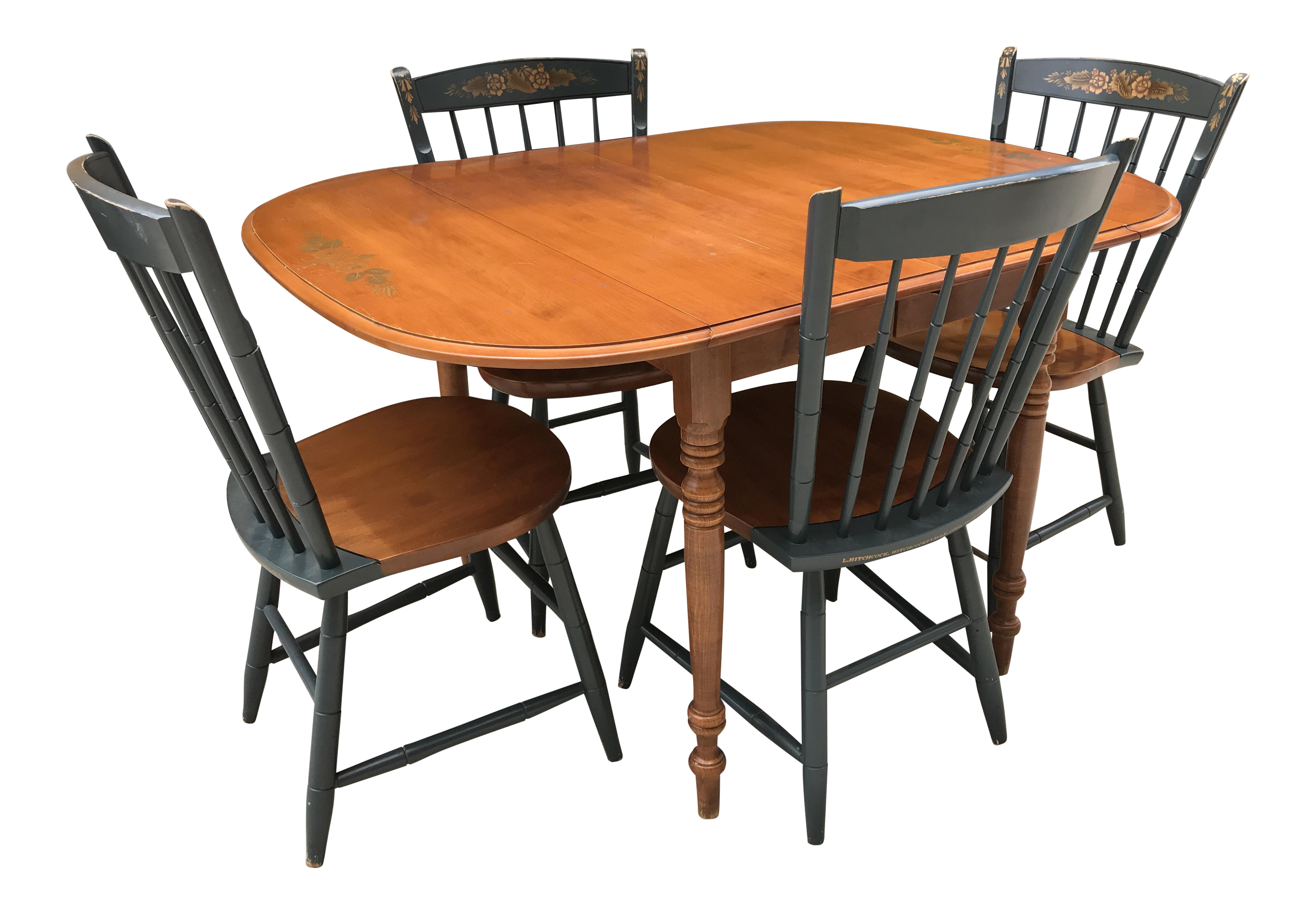 Captivating Hitchcock Drop Leaf Table U0026 Chairs