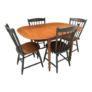Hitchcock Drop Leaf Table & Chairs