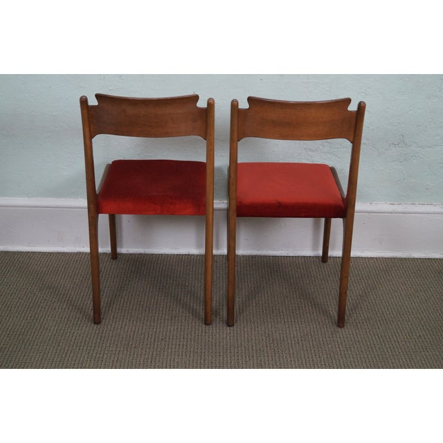 Italian Walnut Midcentury Modern Dining Chairs - 6 - Image 4 of 10