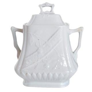 Vintage Stone China Sugar Jar