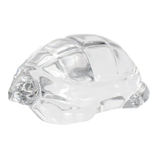 Mid-Century Baccarat Crystal Turtle Paperweight / Figurine