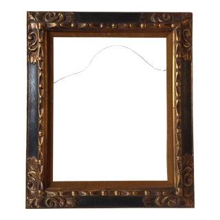 Vintage Gold & Black Carved Wood Frame