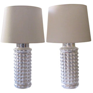 Mercury Glass Lamps by Helena Tynell - A Pair