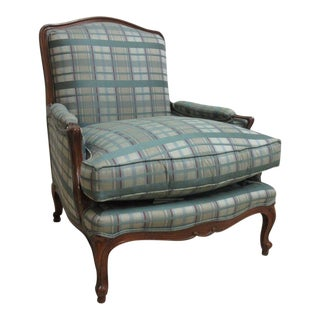Henredon Country French Carved Schoonbeck Bergere Lounge Arm Chair