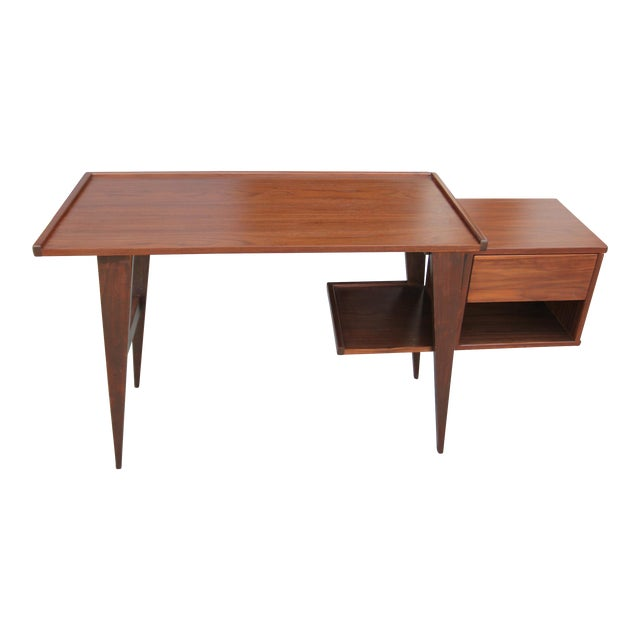 Modern Walnut Writing Desk - Image 1 of 8