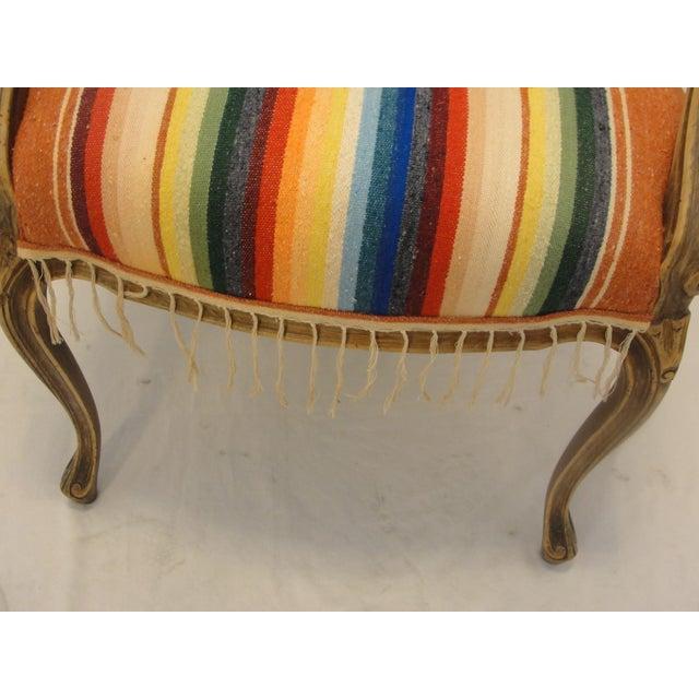 Bergere Chair Custom Upholstered in Serape - Image 7 of 8