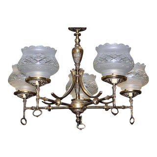 Vintage Victorian Gas Lamp Style Chandelier