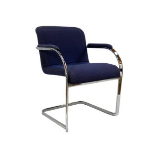 Mid-Century Modern Chrome Arm Chair