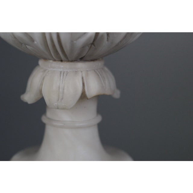 Image of Early 20th C Hand Carved Italian Alabaster Vase