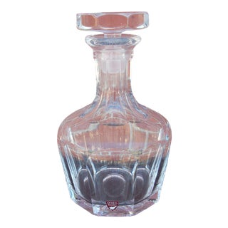Orrefors Swedish Clear Crystal Decanter