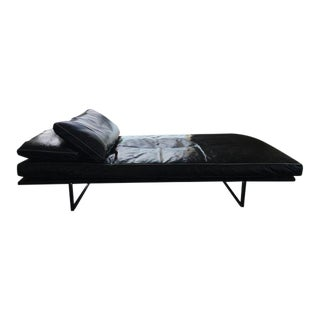 Montauk Sofa Black Leather Oscar Daybed