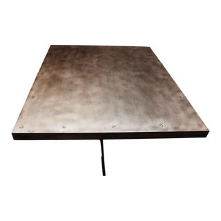 Welded Steel Pedestal Base & Steel Top Table